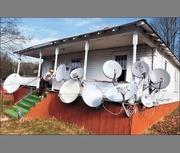 Шаринг,  Спутниковое телевидение,  Триколор,  НТВ+ бодключение,  гарантия