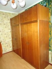 Мебельный гарнитур (2 тумбы,  2 шкафа,  трельяж,  пуфик)