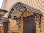 Кованый навес,  ворота,  лестница,  козырек,  решетка,  перила,  забор