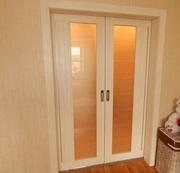 Раздвижные межкомнатные двери из эко шпона и евро бруса массива